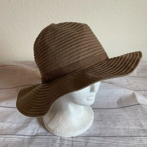 Chico's Womens One Size Brown Straw Beach Hat